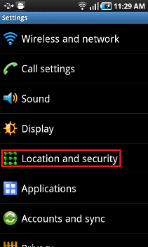location and security